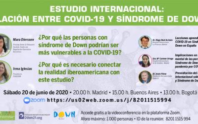 Webinar sobre el estudio internacional que relaciona el COVID-19 y el Síndrome de Down